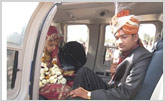 Helicopter Pick-Up Services for Weddings